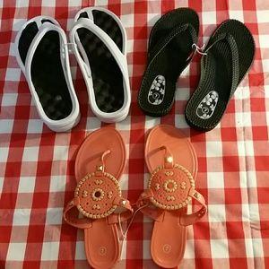 Shoes - NWOT Womens flip-flops 3 pair bundle